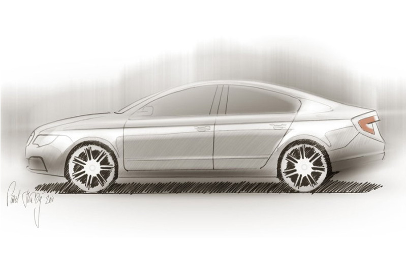 New Skoda Superb Fastback Design Concept