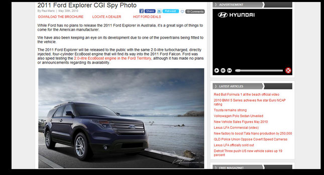 Untitled 1 2012 Ford Explorer Illustration the Real Deal Nope its a CGI by Josh Byrnes Photos