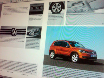2011 VW Tiguan Brochure 2011 VW Tiguan SUV Facelift Leaked Brochure Real Photos