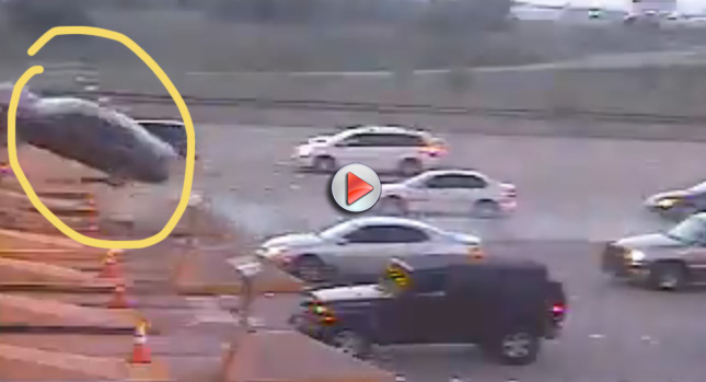 Accident Toll 0 DUI Woman Uses Barricade as a Ramp to Fly Over Tolls Photos Videos