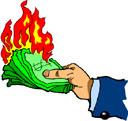 сгорают деньги