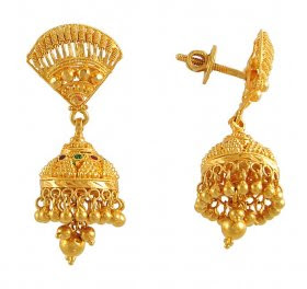 Indian Gold Earring Designs