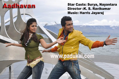 2009 year Most Popular Movie Adhavan Stars Surya and Nayanthar pics