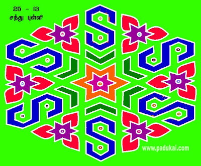 Margazhi kolam / beautiful Star Kolams Patterns