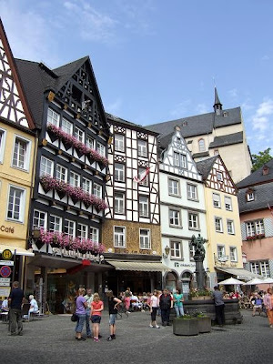 half-timbered houses on the marktplace