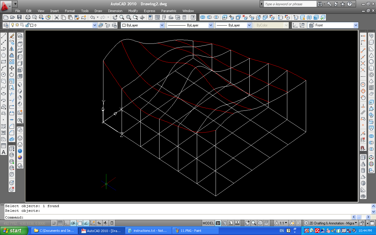 Contour Line Drawing In Autocad : Mcl civil eng g how to interpolate a contour map the autocad way