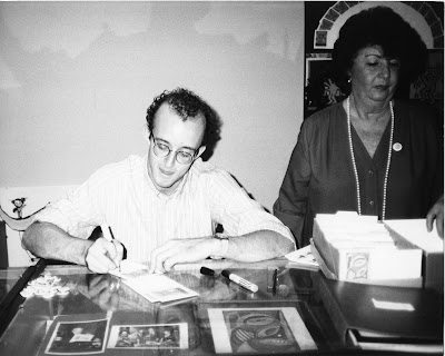 Keith Haring and Unidentified Woman by Andy Warhol