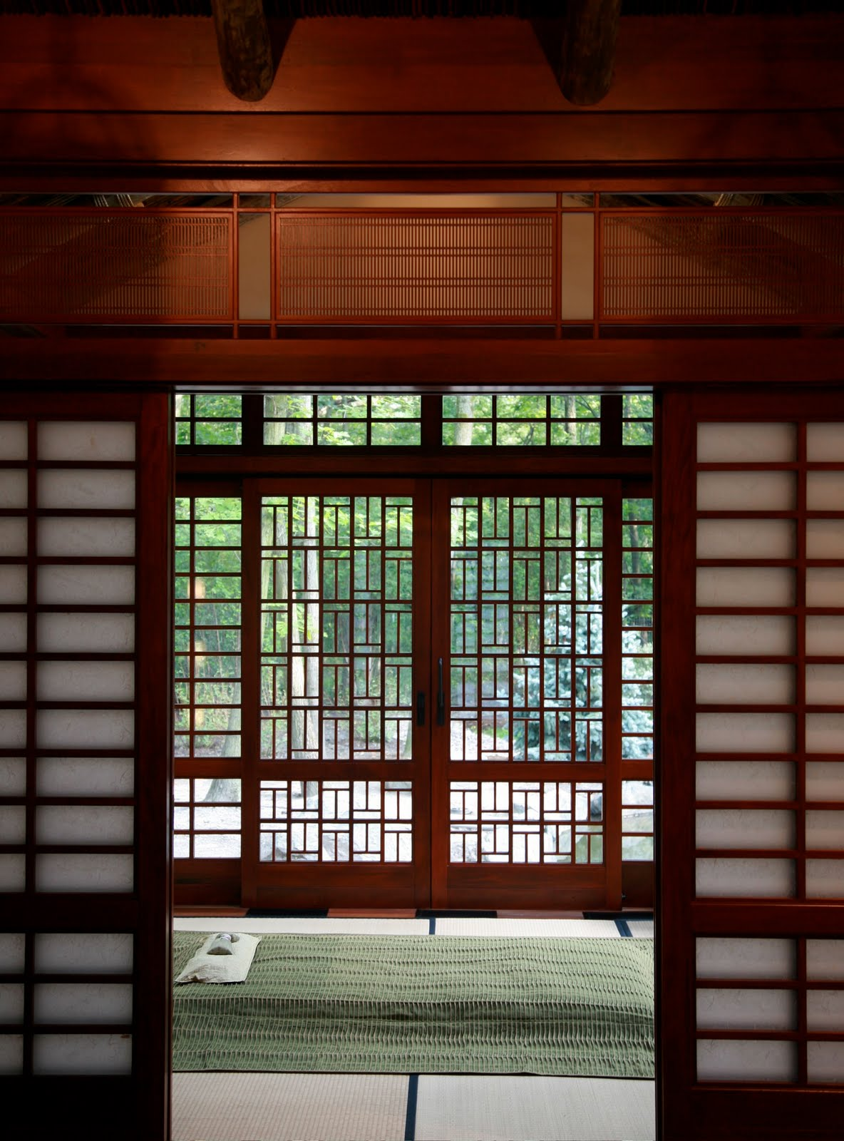 Grabill windows and doors asian inspired tea house for Glass windows and doors