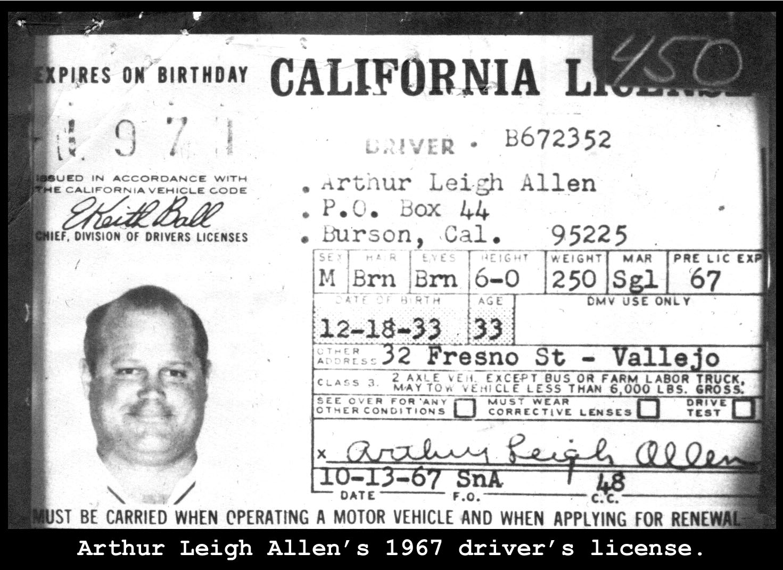 Zodiac Killer: Arthur Leigh Allen