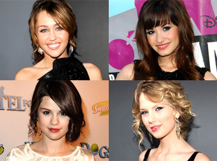 Miley Cyrus,Demi Lovato,Selena Gomez and Taylor Swift!