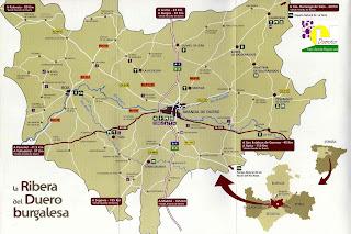 La oficina de turismo virtual de la ribera del duero mapa for Linea duero oficina virtual