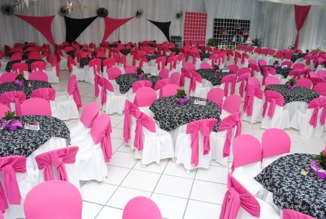 decoracao rosa branco e preto:DECORAÇÕES JAQUELINE: Decoração rosa com preto 02