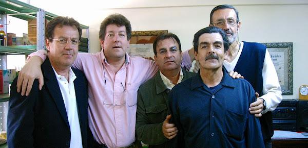 El Equipo: Conrado, Fernando, Arturo, Tulio, y Jairo Narváez Soto