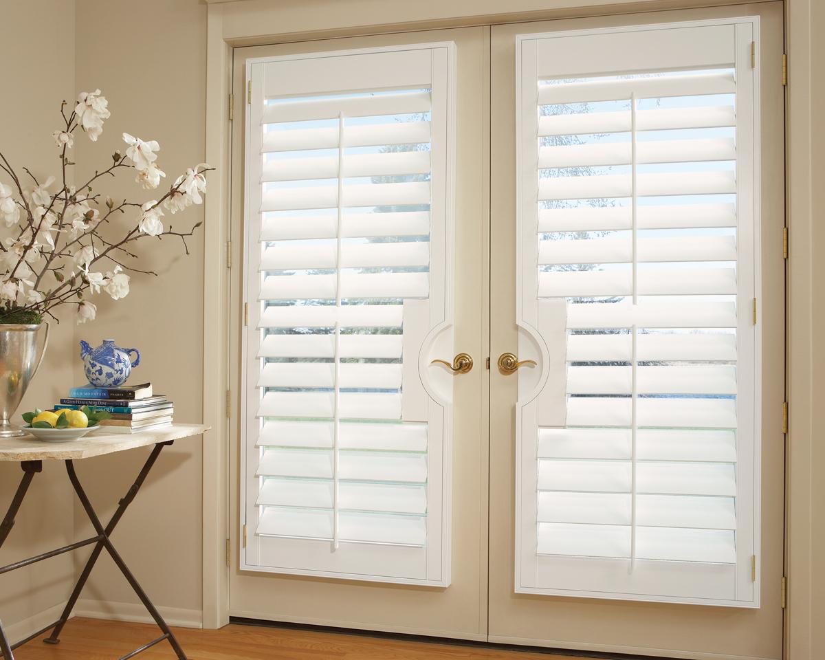 Window treatments with shutters 2017 grasscloth wallpaper for Shutter window treatment ideas