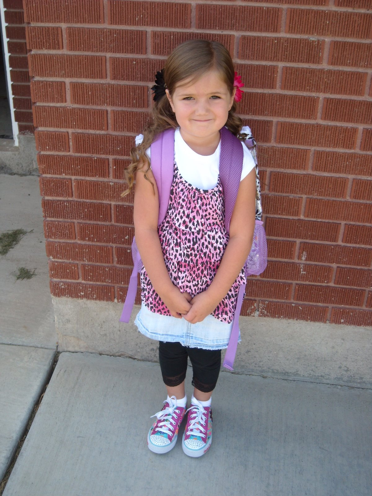emma s first day of school she was so excited to start kindergarten ...