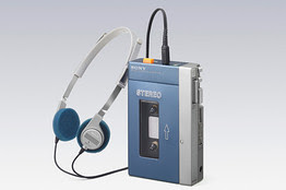 Sony's first cassette Walkman