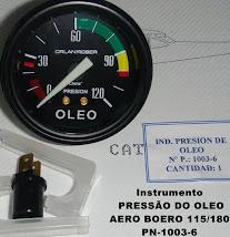PRESSÃO DO ÓLEO- INSTRUMENTO