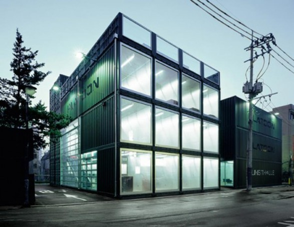 Shipping Container Office Building 587 x 453