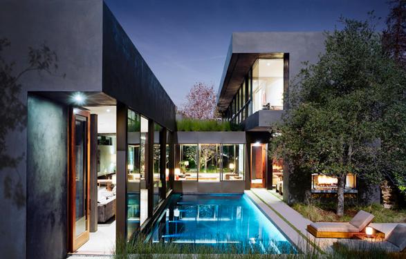 Ella universe dream home simple geometry by marmol for Minimalist house los angeles