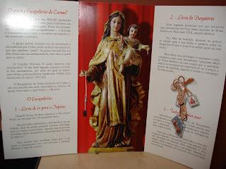 Brinde Gratis Escapulário de Nossa Senhora do Carmo
