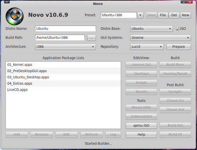 Novo Builder: Build your own Ubuntu-based distro.