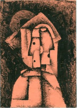 Michal Splho ink drawing cubism head figure