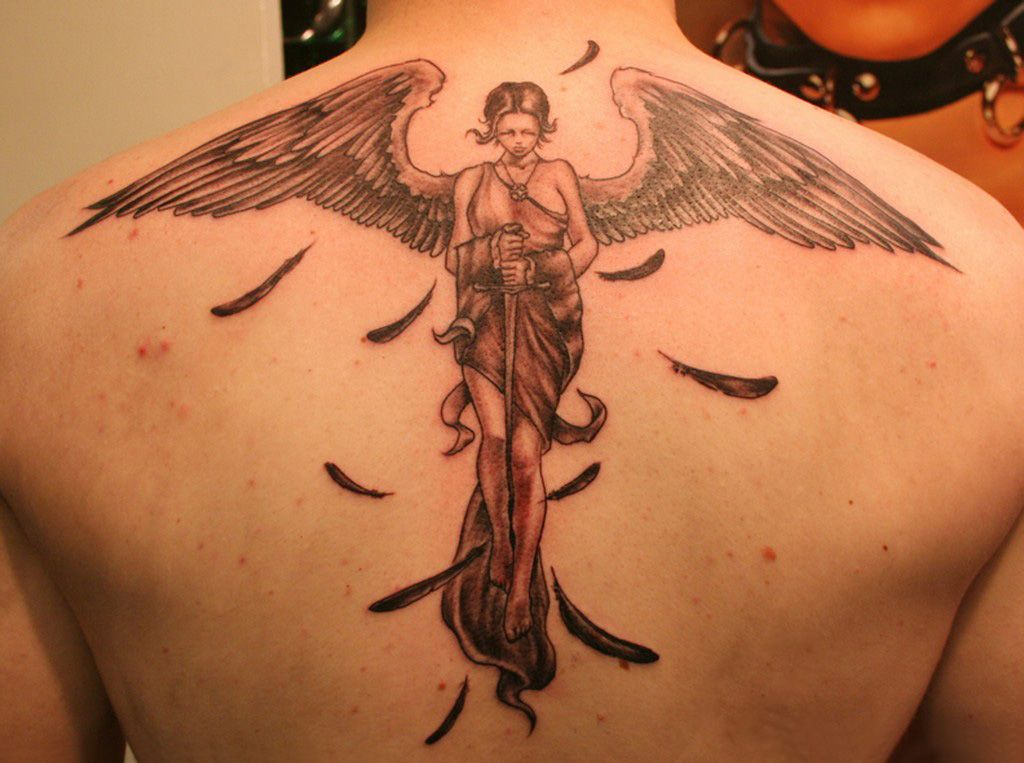 guardian angel tattoo. Labels: new angel tattoo design