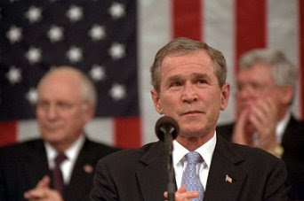 Bush during the 2002 State of the Union address