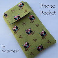 Owls fabric phone case, handmade in Wales, UK. Padded and fully lined.