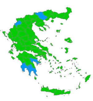 εκλογικός χάρτης 2009