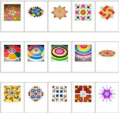 The designs of rangoli
