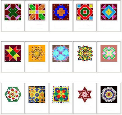 Rangoli Designs for Diwali, Deepavali Rangoli Designs, Pictures of