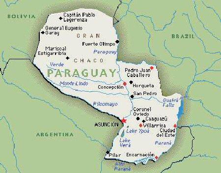 Street map Asuncion Paraguay