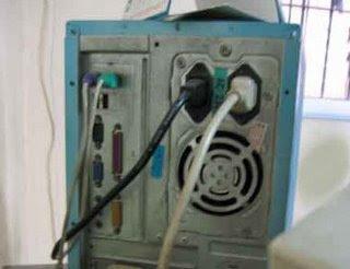 Lepas Kabel Power pada CPU
