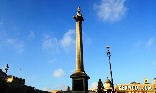 london trafalgar square nelson's column