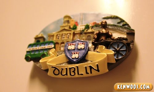 dublin fridge magnet