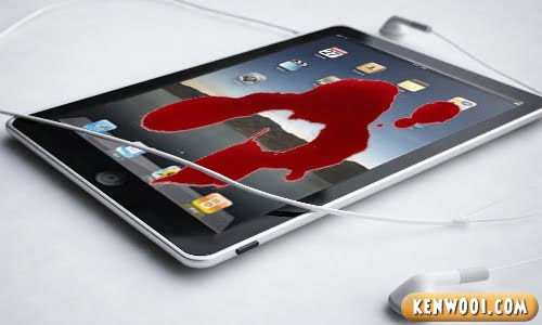 apple ipad blood