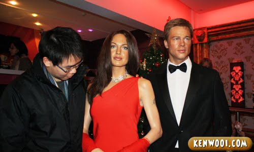 madame tussauds london brad pitt and angelina jolie