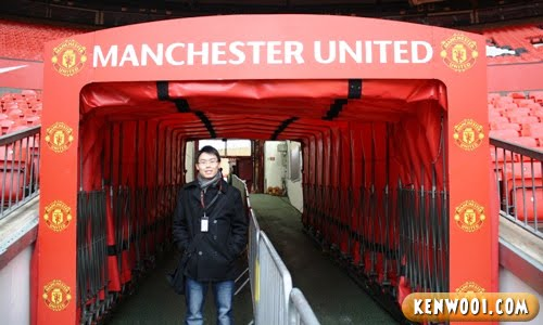 manchester united entrance tunnel