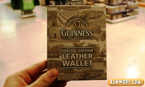 guinness special edition leather wallet
