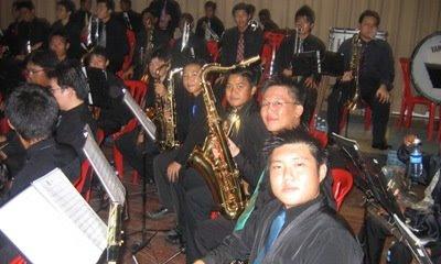 concert saxophone line