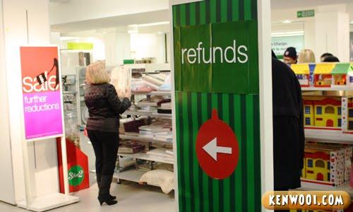 refund sign