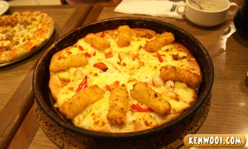 pizza hut fish king pizza