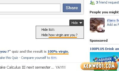 facebook quiz how virgin are you