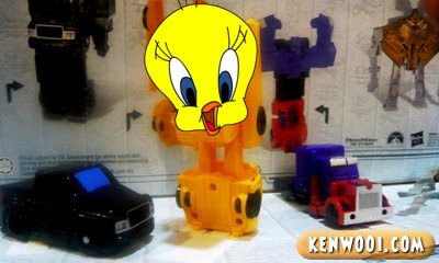 transformers bumble bee toy tweety bird