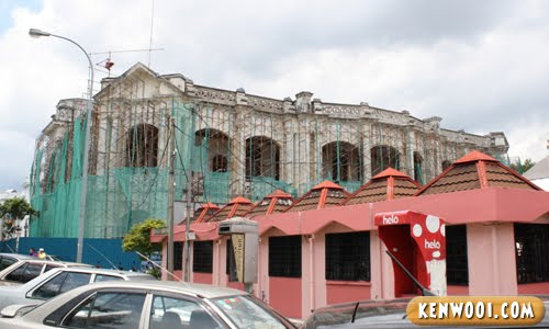 ipoh town hall back renovation