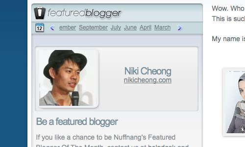 nuffnang featured blogger
