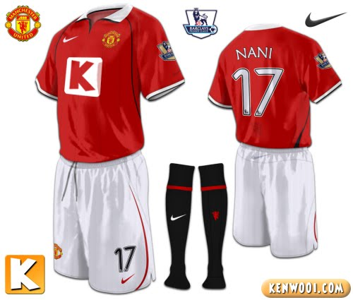 manchester united united home jersey