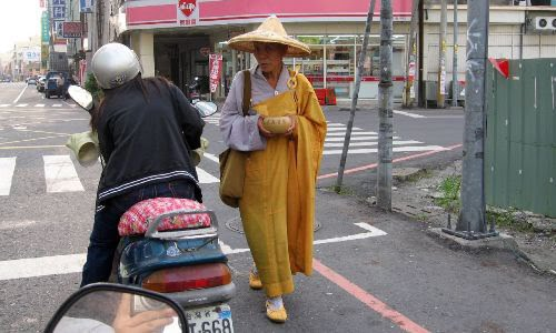 chinese monk beggar