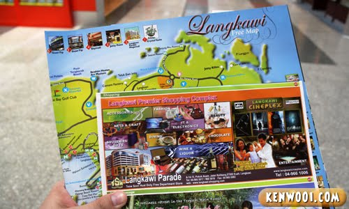 langkawi map brochures